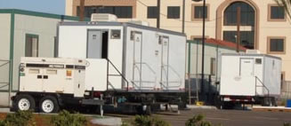 Portable Restroom Trailers 1 - AAA Security Inc.